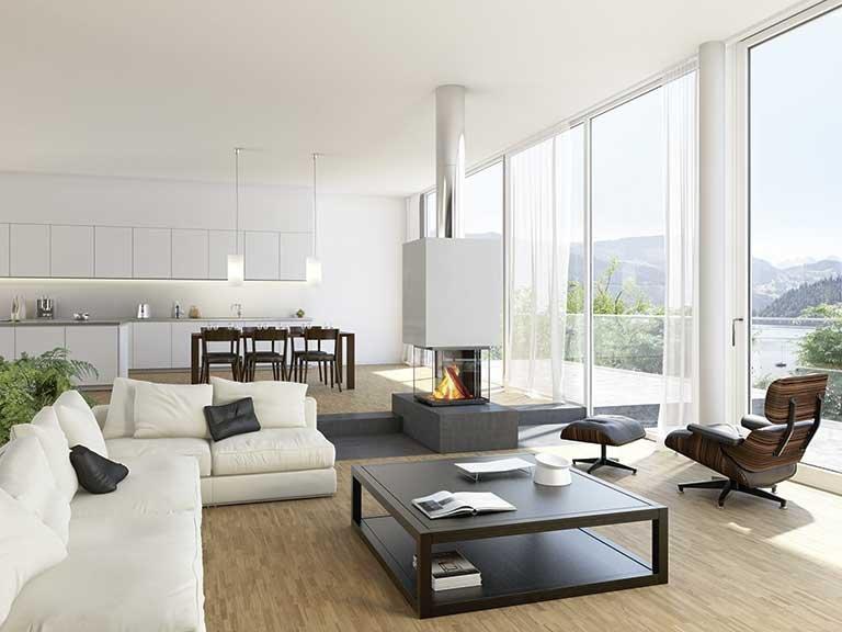 wohnen mit kamin der klassische bild 3 sch ner wohnen. Black Bedroom Furniture Sets. Home Design Ideas