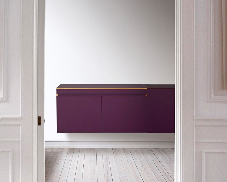 Küchen, die sich schlank machen: Schwebendes Sideboard: Modulsystem ...