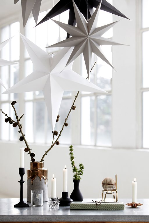 Sterne aus papier und in gedeckten farben bild 2 - Weihnachtsdeko modern ...