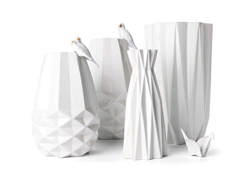 vase und deko vogel origami von fair forward bild 30 sch ner wohnen. Black Bedroom Furniture Sets. Home Design Ideas