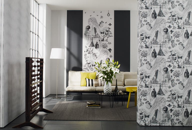 Wandgestaltung Mit Tapeten | Möbelideen