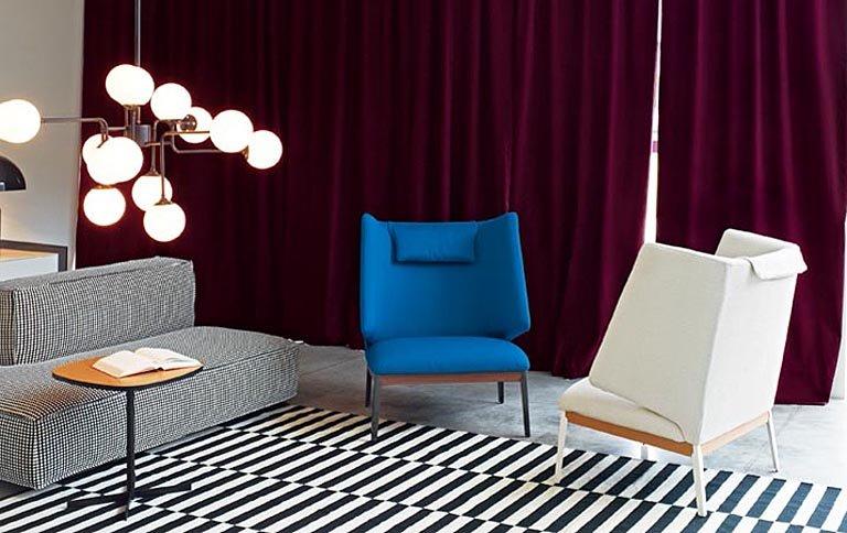 sessel hug mit breiter r ckenlehne von claesson koivisto rune sch ner wohnen. Black Bedroom Furniture Sets. Home Design Ideas