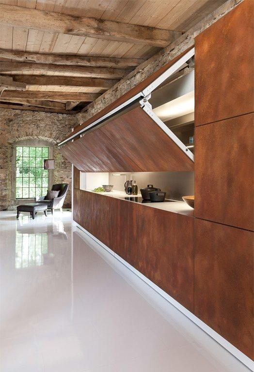 ideen für das wohnen mit geräten: küchen, die nicht nach küchen ... - Waschmaschine In Der Küche Verstecken