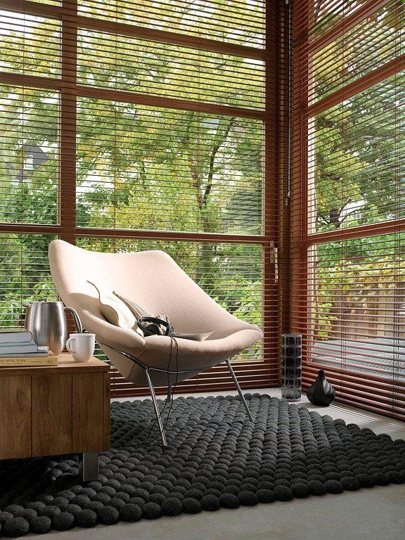 Fotostrecke fensterdeko mit jalousien sch ner wohnen for Wandgarten wohnzimmer