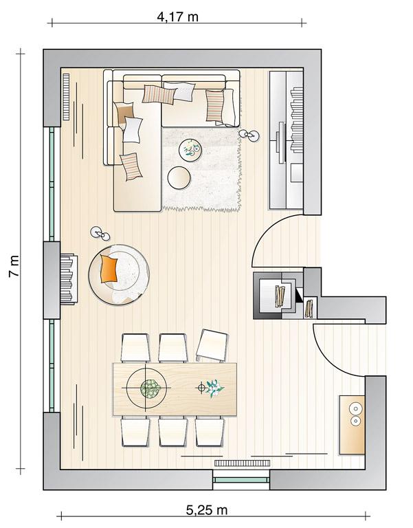 Wohn Und Esszimmer Einrichten: Ausgezeichnete Kleines Wohn ... Kleine Wohnzimmer Mit Essbereich