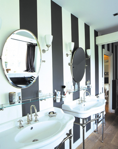 fotostrecke gestreift bild 13 sch ner wohnen. Black Bedroom Furniture Sets. Home Design Ideas