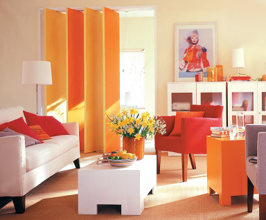 wohnen mit farben: wohnzimmer in orange-weiß: schÖner wohnen ... - Wohnzimmer Einrichten Orange