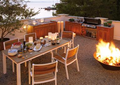 die outdoork che genussvoll drau en kochen sch ner wohnen. Black Bedroom Furniture Sets. Home Design Ideas