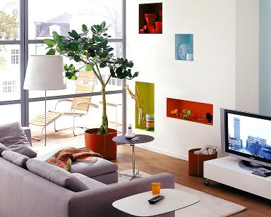 fotostrecke: leuchtende akzente - bild 2 - [schÖner wohnen] - Wohnzimmer Vorwand Mit Deko Nische