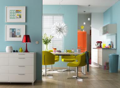 Frischekick für die Küche: Wände in Frühlingsfarben
