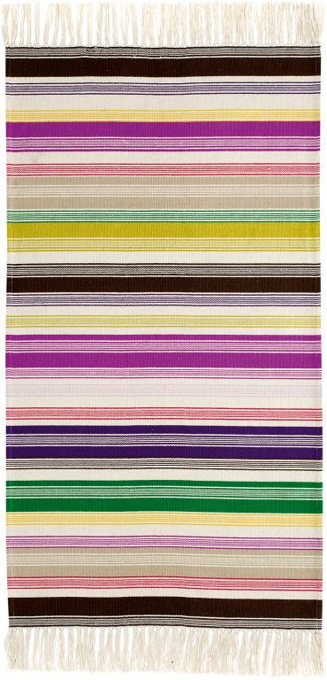 Home Collections von Modelabels Teppich bunt gestreift