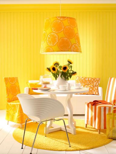sommerliches gelb im esszimmer die farben des sommers 3 sch ner wohnen. Black Bedroom Furniture Sets. Home Design Ideas