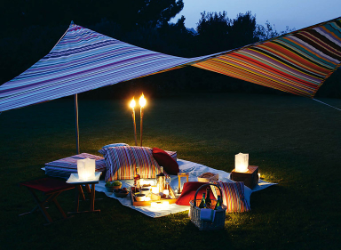 leben und feiern im freien sonnensegel von weish upl bild 10 sch ner wohnen. Black Bedroom Furniture Sets. Home Design Ideas