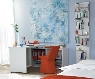 arbeitszimmer schreibtisch im schlafzimmer sch ner wohnen. Black Bedroom Furniture Sets. Home Design Ideas