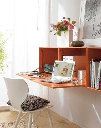 arbeitszimmer h ngeschrank als schreibtisch sch ner wohnen. Black Bedroom Furniture Sets. Home Design Ideas