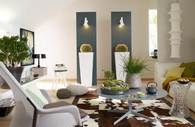 Einrichten extravagant skurrile pflanzen bild 7 for Wandgarten wohnzimmer