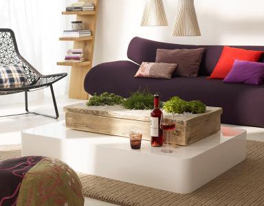 einrichten pflanzen als tischdeko bild 11 sch ner wohnen. Black Bedroom Furniture Sets. Home Design Ideas