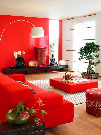 wohnzimmer im chinesischen stil die rote wand 6 sch ner wohnen. Black Bedroom Furniture Sets. Home Design Ideas