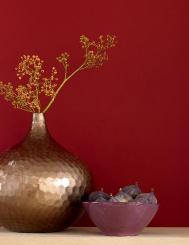 stillleben ton in ton die rote wand 2 sch ner wohnen. Black Bedroom Furniture Sets. Home Design Ideas