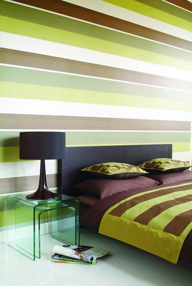 feliz tapete gestreift blau braun. Black Bedroom Furniture Sets. Home Design Ideas