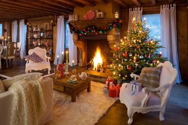weihnachten im chalet stil festliche deko mit alpen charme sch ner wohnen. Black Bedroom Furniture Sets. Home Design Ideas