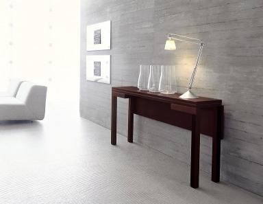 kombination aus konsole und tisch papillon von bellato. Black Bedroom Furniture Sets. Home Design Ideas