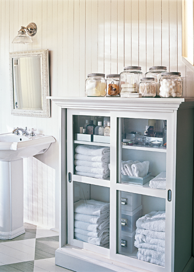 Fotostrecke jeden zentimeter als stauraum nutzen auch - Korkboden badezimmer ...