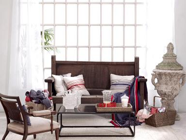 home collections maritimes blau zu rot kissen colium bild 7 sch ner wohnen. Black Bedroom Furniture Sets. Home Design Ideas