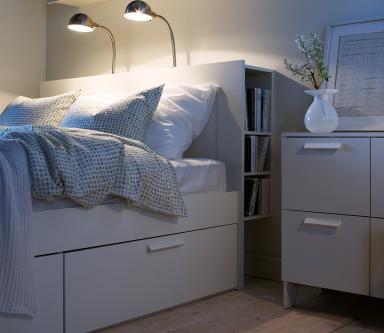 bett brimnes bei ikea sch ner wohnen. Black Bedroom Furniture Sets. Home Design Ideas