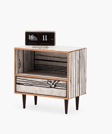 einrichten nachttisch wrongwoods von established sons. Black Bedroom Furniture Sets. Home Design Ideas