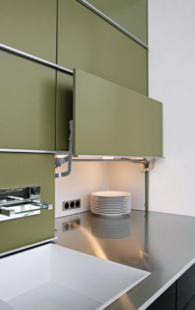 k che versteckte arbeitsfl che concept 40 von leicht bild 10 sch ner wohnen. Black Bedroom Furniture Sets. Home Design Ideas