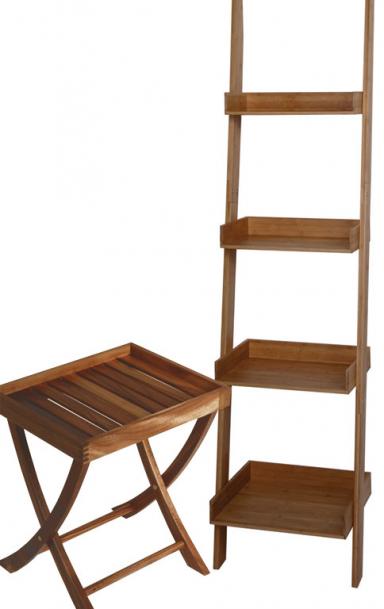 einrichten kleine helfer aus holz klapptisch acacia und regal bamboo square bild 3. Black Bedroom Furniture Sets. Home Design Ideas