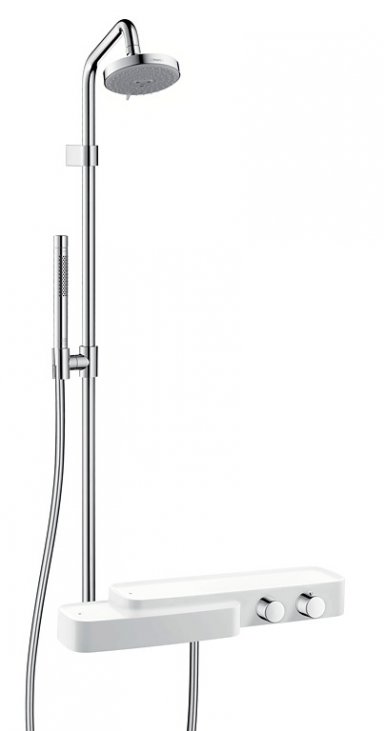 wellness f r die dusche duschgarnitur axor bouroullec. Black Bedroom Furniture Sets. Home Design Ideas