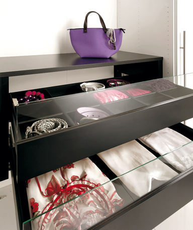 know how schubladeneinsatz mit glasfront bei h lsta. Black Bedroom Furniture Sets. Home Design Ideas