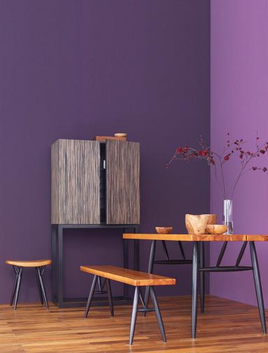 pinienholz und violett bild 8 sch ner wohnen. Black Bedroom Furniture Sets. Home Design Ideas