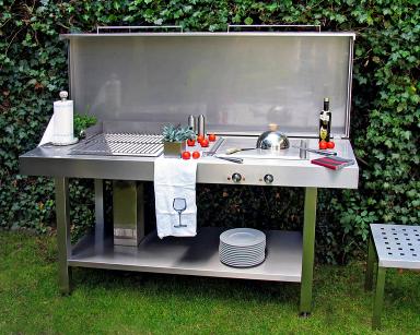 die outdoorküche ? genussvoll draußen kochen - [schÖner wohnen] - Ikea Küche Metall