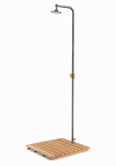fotostrecke frische brause gartendusche aus edelstahl von manufactum bild 17 sch ner wohnen. Black Bedroom Furniture Sets. Home Design Ideas