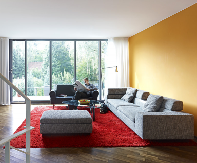 Einrichten Wohnzimmer Mit Mut Zu Nackten Wnden