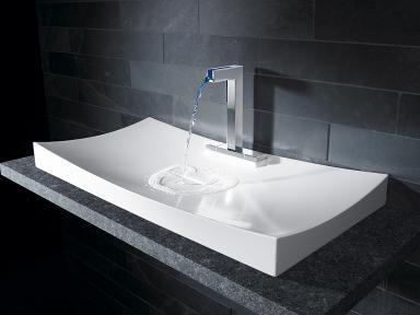 konkav gebogenes waschbecken canyon von hansa bild 18. Black Bedroom Furniture Sets. Home Design Ideas