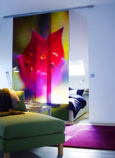 fensterdeko mit schiebegardinen schiebegardine akerkulla von ikea sch ner wohnen. Black Bedroom Furniture Sets. Home Design Ideas