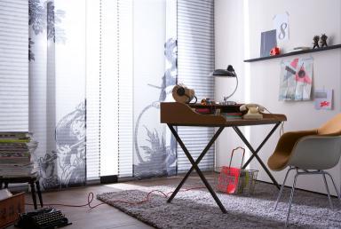 schiebegardinen jouy und salt aus der sch ner wohnen kollektion bild 4 sch ner wohnen. Black Bedroom Furniture Sets. Home Design Ideas