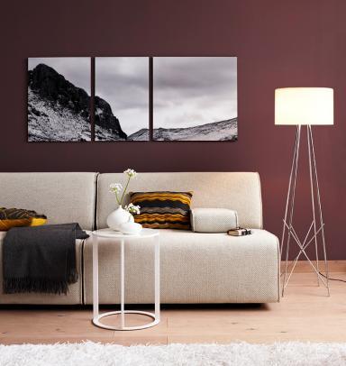 Mit bildern dekorieren ideen zum anordnen sch ner wohnen - Wandgarten wohnzimmer ...