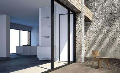 glasfliesen mit farbverlauf degradados von onix. Black Bedroom Furniture Sets. Home Design Ideas