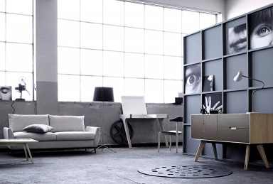 grau als wandfarbe sch ner wohnen. Black Bedroom Furniture Sets. Home Design Ideas
