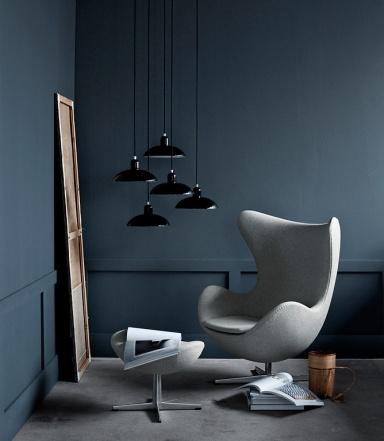paynesgrau zu schwarz und hellgrau bild 15 sch ner wohnen. Black Bedroom Furniture Sets. Home Design Ideas
