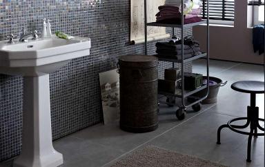 gro formatige fliesen gro e bodenfliese in grau sch ner wohnen. Black Bedroom Furniture Sets. Home Design Ideas
