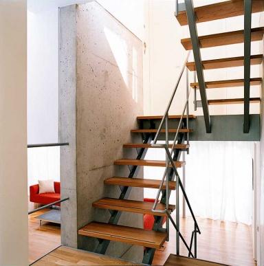 aus beton gegossenes treppenhaus bild 6 sch ner wohnen. Black Bedroom Furniture Sets. Home Design Ideas