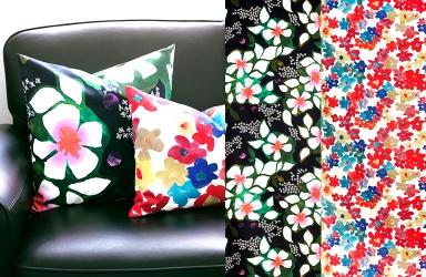 dekorieren stoffe solgerd und solrun von ikea bild. Black Bedroom Furniture Sets. Home Design Ideas
