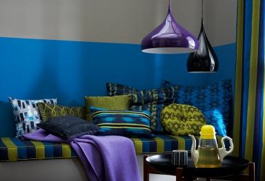 ethno stil kitt senfgelb und mittelblau farbkombis mit sch ner wohnen farbe 5 sch ner wohnen. Black Bedroom Furniture Sets. Home Design Ideas