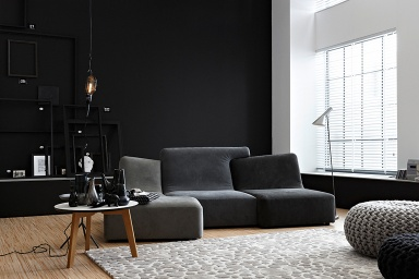 inspiration ausdrucksstark anthrazit zu hellgrau bild 7 sch ner wohnen. Black Bedroom Furniture Sets. Home Design Ideas